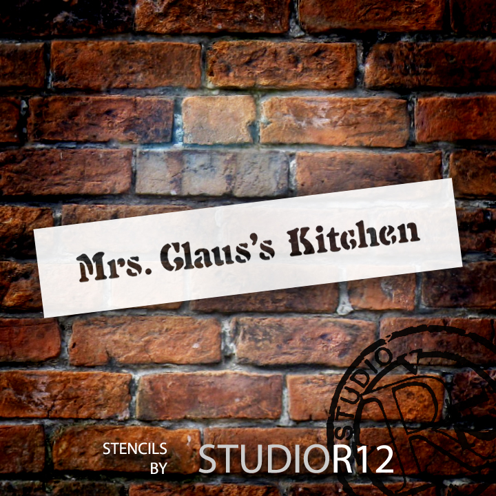 "Mrs. Claus's Kitchen - Word Stencil - 7"" x 1 1/2"" - STCL1526_1 - by StudioR12"