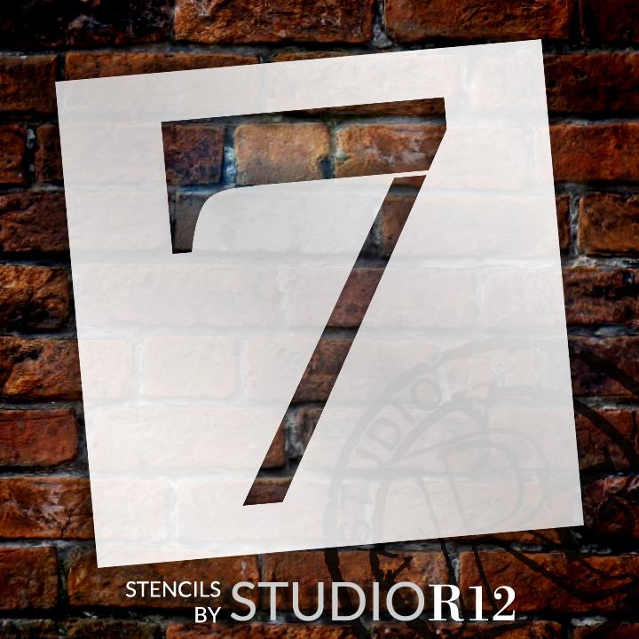 "Classic Serif Letter Stencil - 7 - 15"" - STCL1708_4 - by StudioR12"