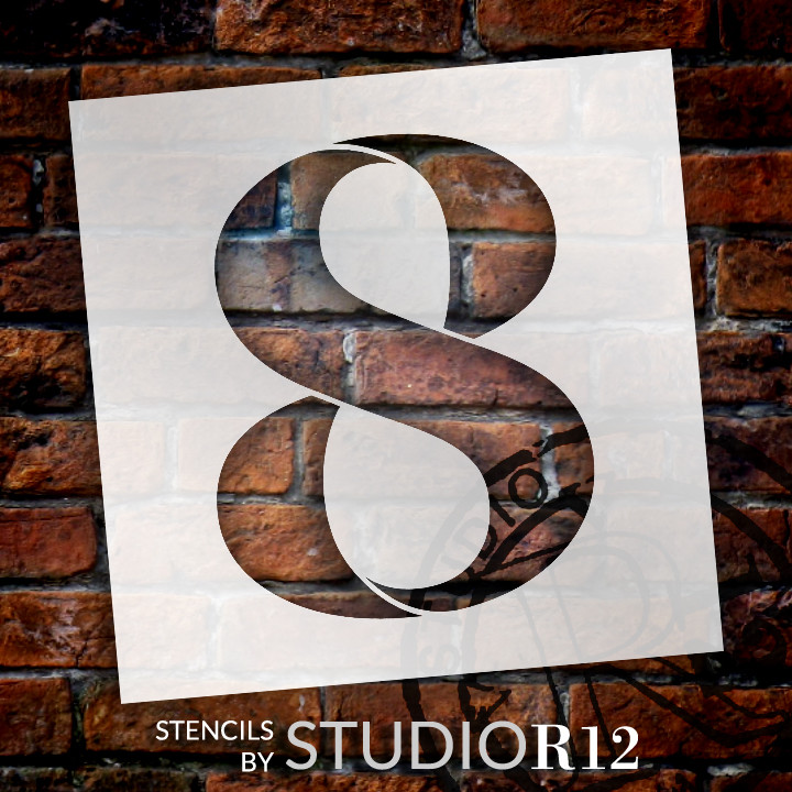"Classic Serif Letter Stencil - 8 - 15"" - STCL1709_4 - by StudioR12"
