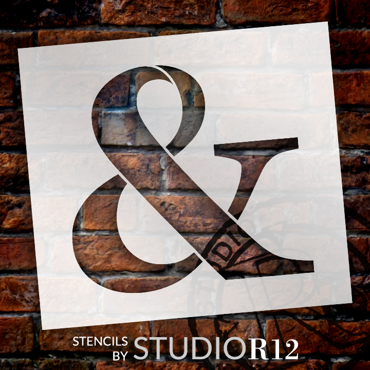 """Classic Serif Letter Stencil - Ampersand - 15"""" - STCL1711_4 - by StudioR12"""