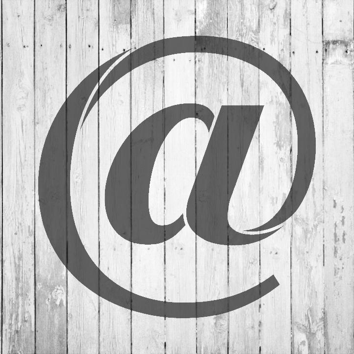 "Classic Serif Letter Stencil - At Symbol - 8"" - STCL1712_1 - by StudioR12"