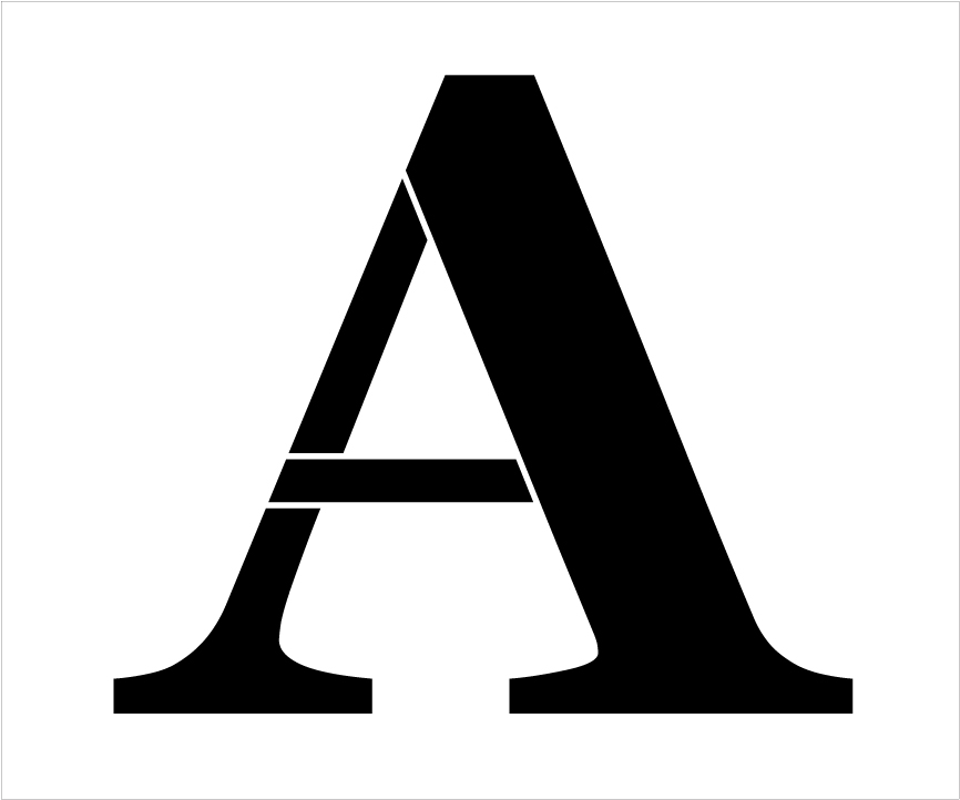 "Classic Serif Letter Stencil - A - 15"" - STCL1714_4 - by StudioR12"
