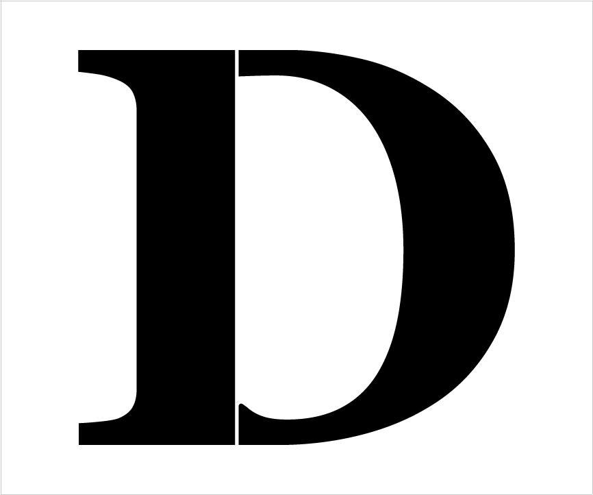 "Classic Serif Letter Stencil - D - 10"" - STCL1717_2 - by StudioR12"