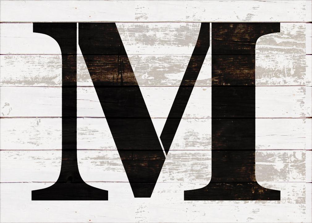 "Classic Serif Letter Stencil - M - 12"" - STCL1726_3 - by StudioR12"