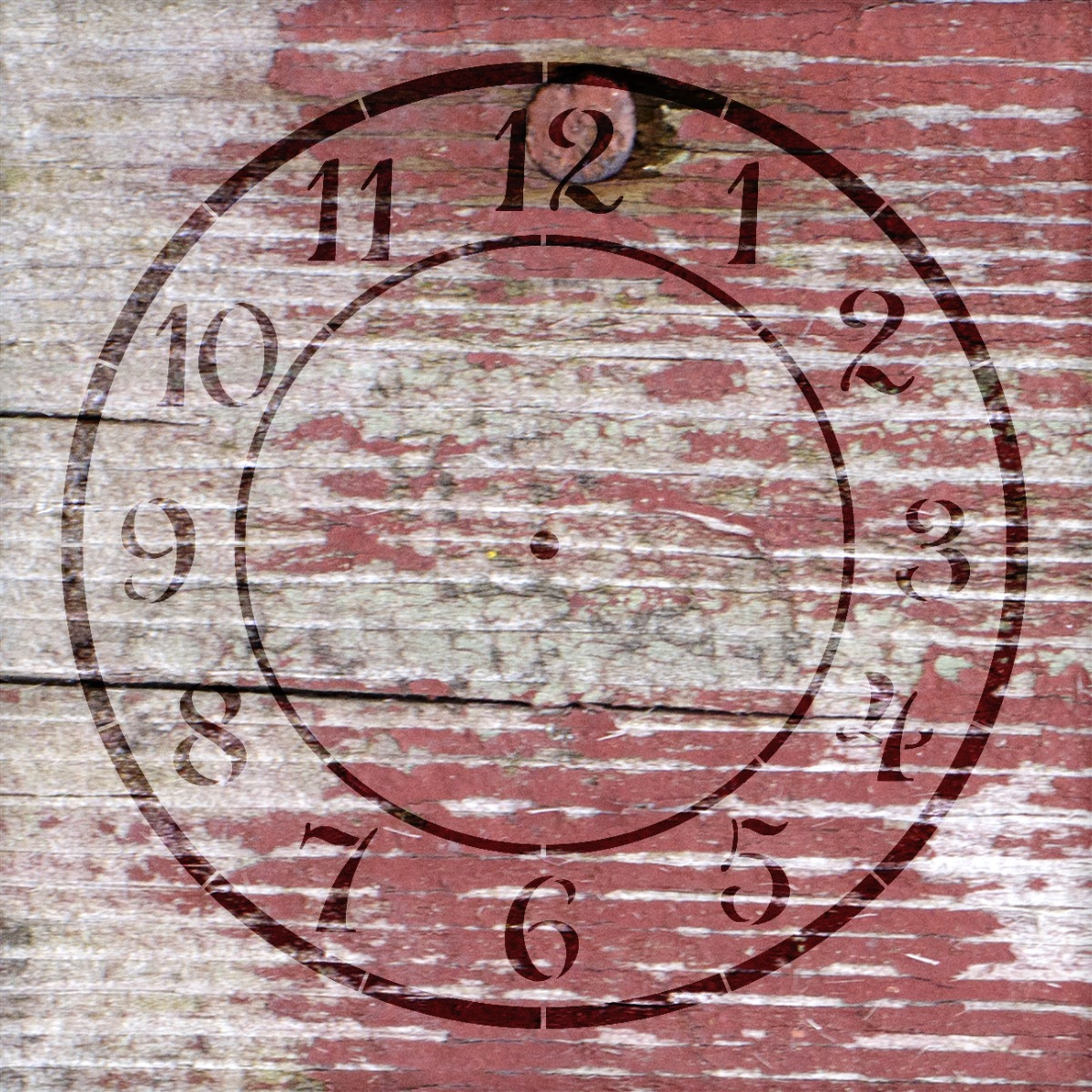 "Country Time Clock Stencil - 5"" - STCL1525_1 - by StudioR12"