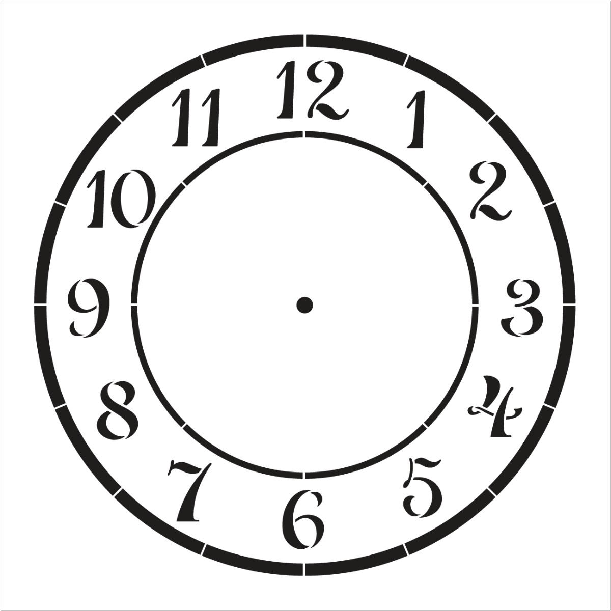 "Country Time Clock Stencil - 10"" - STCL1525_4 - by StudioR12"