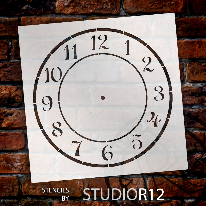 "Country Time Clock Stencil - 14"" - STCL1525_6 - by StudioR12"