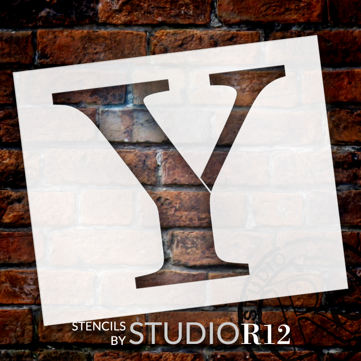 "Classic Serif Letter Stencil - Y - 10"" - STCL1738_2 - by StudioR12"