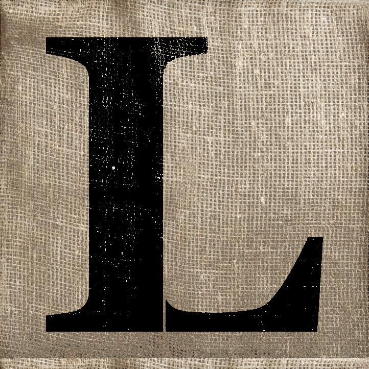 Classic Serif Letter Stencil - L - STCL1725 - by StudioR12