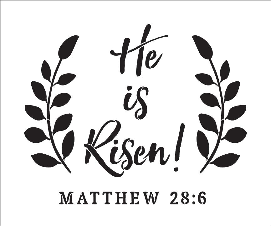 photo regarding He is Risen Printable named He Is Risen - Wreath - Term Artwork Stencil - 12\