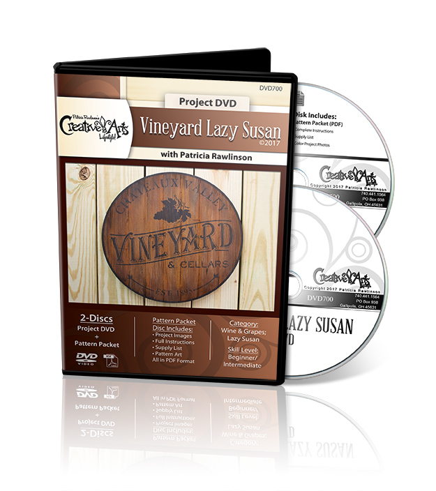 Vineyard Lazy Susan - DVD and Pattern Packet - Patricia Rawlinson