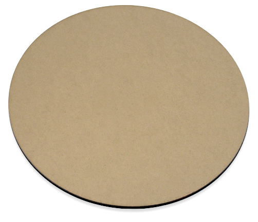 Round Lazy Susan Replacement Panel - w/ Etched Base - No Center Hole