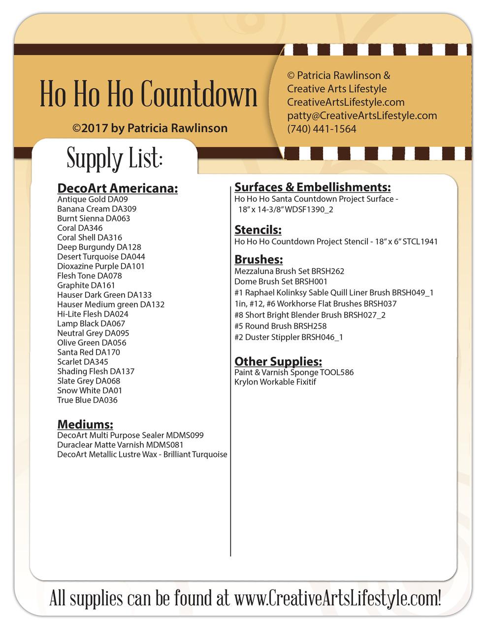 Ho Ho Ho Countdown - Pattern Packet - Patricia Rawlinson
