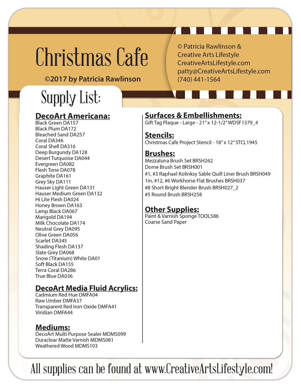 Christmas Cafe - Pattern Packet - Patricia Rawlinson