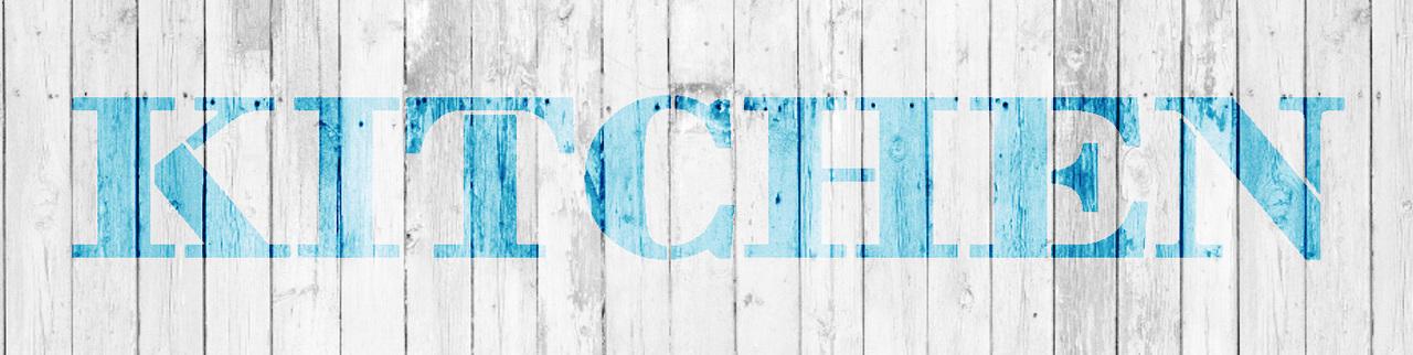"Kitchen - Farmhouse Serif - Word Stencil - 20"" x 5"" - STCL1951_3 - by StudioR12"