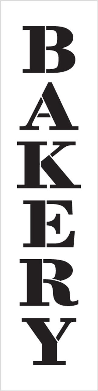 "Bakery - Farmhouse Serif - Vertical - Word Stencil - 7"" x 30"" - STCL1954_5 - by StudioR12"