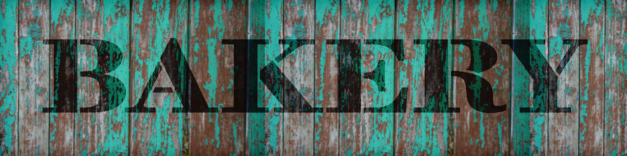 "Bakery - Farmhouse Serif - Word Stencil - 12"" x 3"" - STCL1953_1 - by StudioR12"