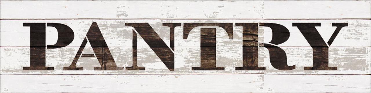 """Pantry - Farmhouse Serif - Word Stencil - 12"""" x 3"""" - STCL1955_1 - by StudioR12"""