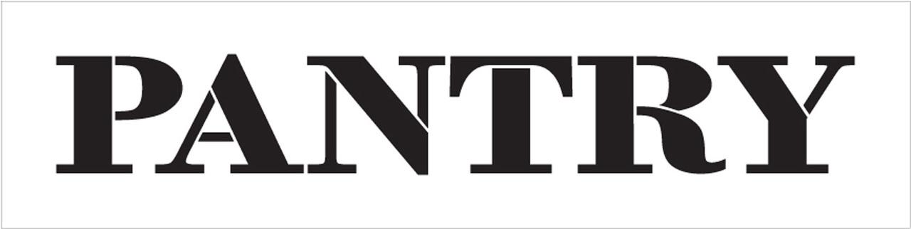 """Pantry - Farmhouse Serif - Word Stencil - 16"""" x 4"""" - STCL1955_2 - by StudioR12"""