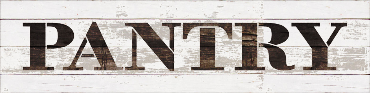 "Pantry - Farmhouse Serif - Word Stencil - 20"" x 5"" - STCL1955_3 - by StudioR12"