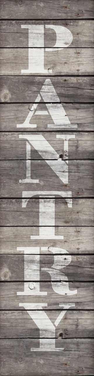 "Pantry - Farmhouse Serif - Vertical - Word Stencil - 3"" x 12"" - STCL1956_1 - by StudioR12"