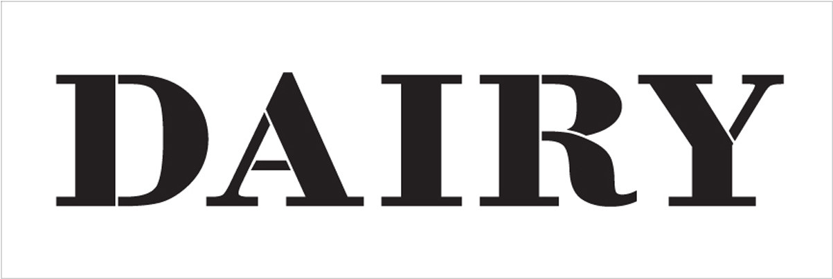 "Dairy - Farmhouse Serif - Word Stencil - 30"" x 8"" - STCL1961_5 - by StudioR12"