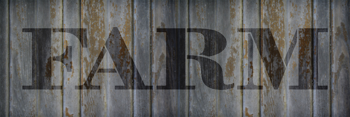 "Farm - Farmhouse Serif - Word Stencil - 12"" x 4"" - STCL1963_1 - by StudioR12"