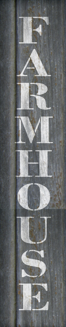 "Farmhouse - Country Serif - Vertical - Word Stencil - 4"" x 21"" - STCL1970_2 - by StudioR12"
