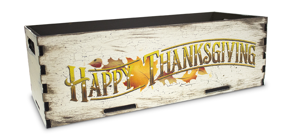 """Happy Thanksgiving - Project & Word Stencil - 15"""" x 5"""" - STCL1927_1 - by StudioR12"""