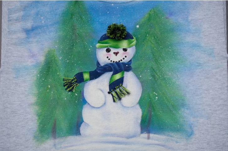 Snowman in Blue - E-Packet - Debra Welty