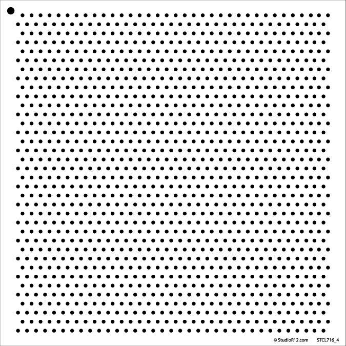 """1/8"""" Dots - Pattern Stencil - 12"""" x 12"""""""