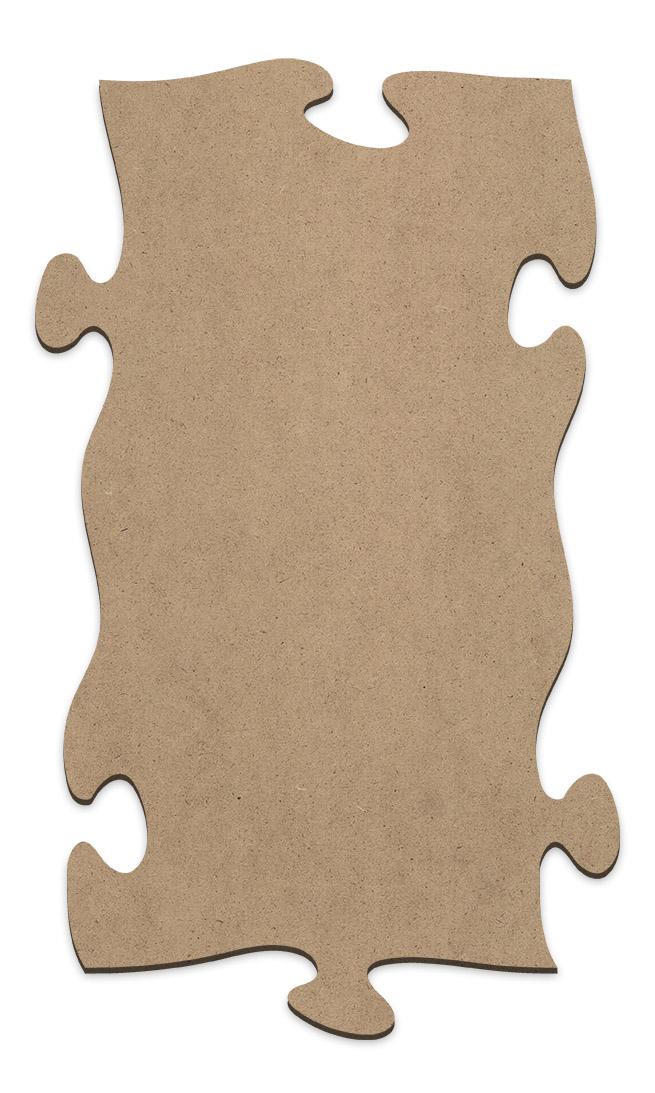 "Puzzle Piece Wood Surface - Rectangle - 12"" x 7 1/8"""