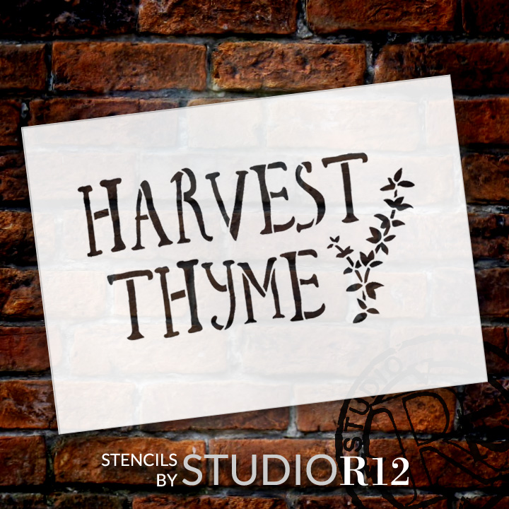 "Harvest Thyme - Word Art Stencil - 7"" x 5"" - STCL1993_1 - by StudioR12"