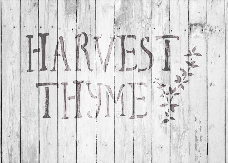 "Harvest Thyme - Word Art Stencil - 16"" x 10"" - STCL1993_3 - by StudioR12"