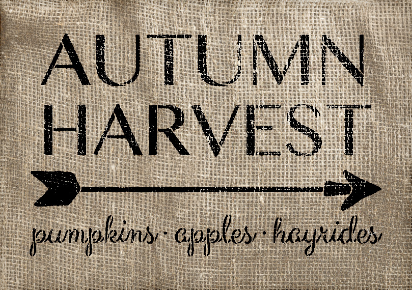 "Autumn Harvest - Arrow - Word Art Stencil - 14"" x 10"" - STCL1996_1 - by StudioR12"