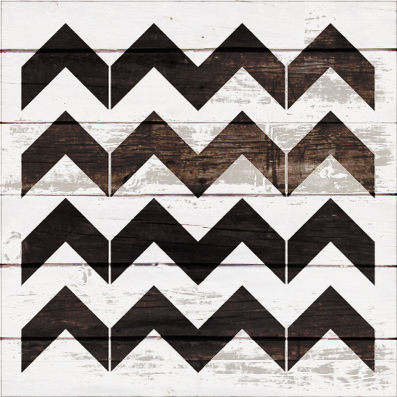 "Thick Chevron Pattern Stencil - 18"" x 18"" - STCL2000_5 - by StudioR12"