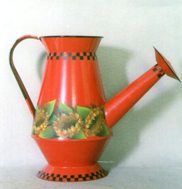 Red Watering Can With Sunflowers - E-Packet - Barbara Franzreb-Bunsey
