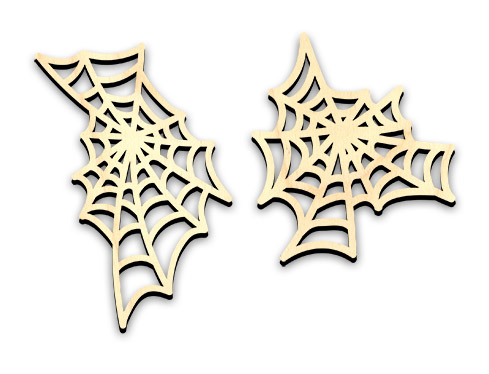 "Spooky Spiderweb Embellishments - Small - 1 3/4"" x 2"" &  1 3/4"" x 2 1/2"""