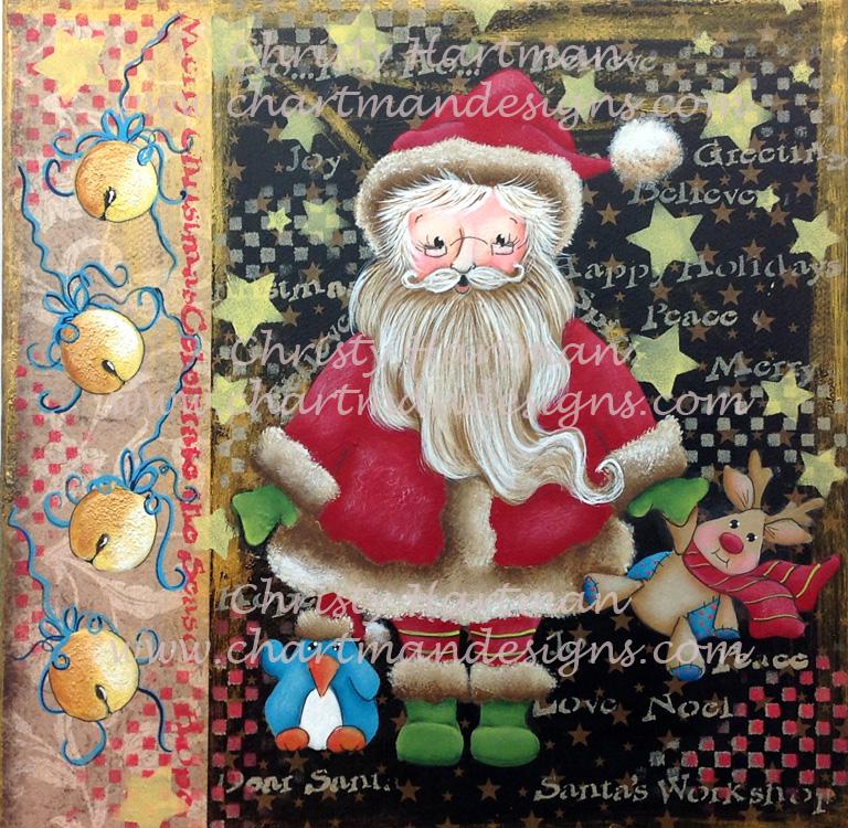 Santa and Friends Mixed Media - E-Packet - Christy Hartman