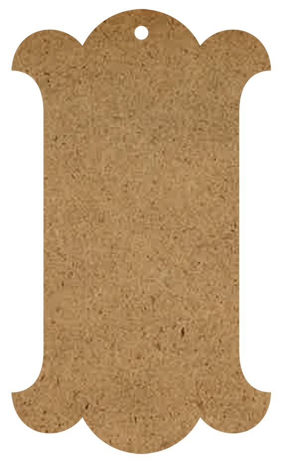 Georgian Wood Tag Surface - Small - 12""