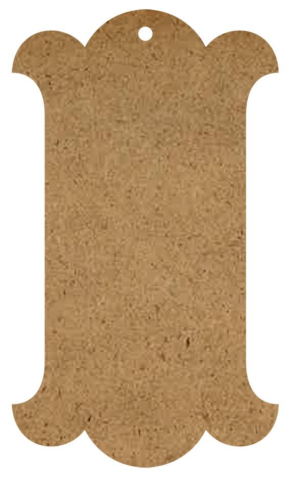 "Georgian Wood Tag Surface - Large - 18"""