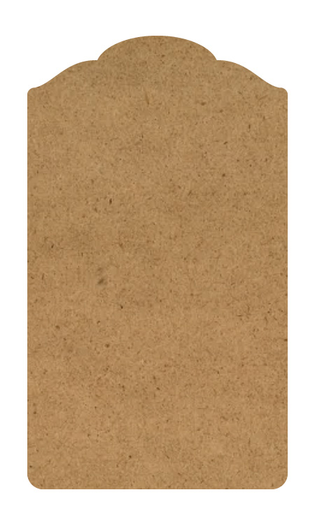 Colonial Wood Tag Surface - Large- 18""