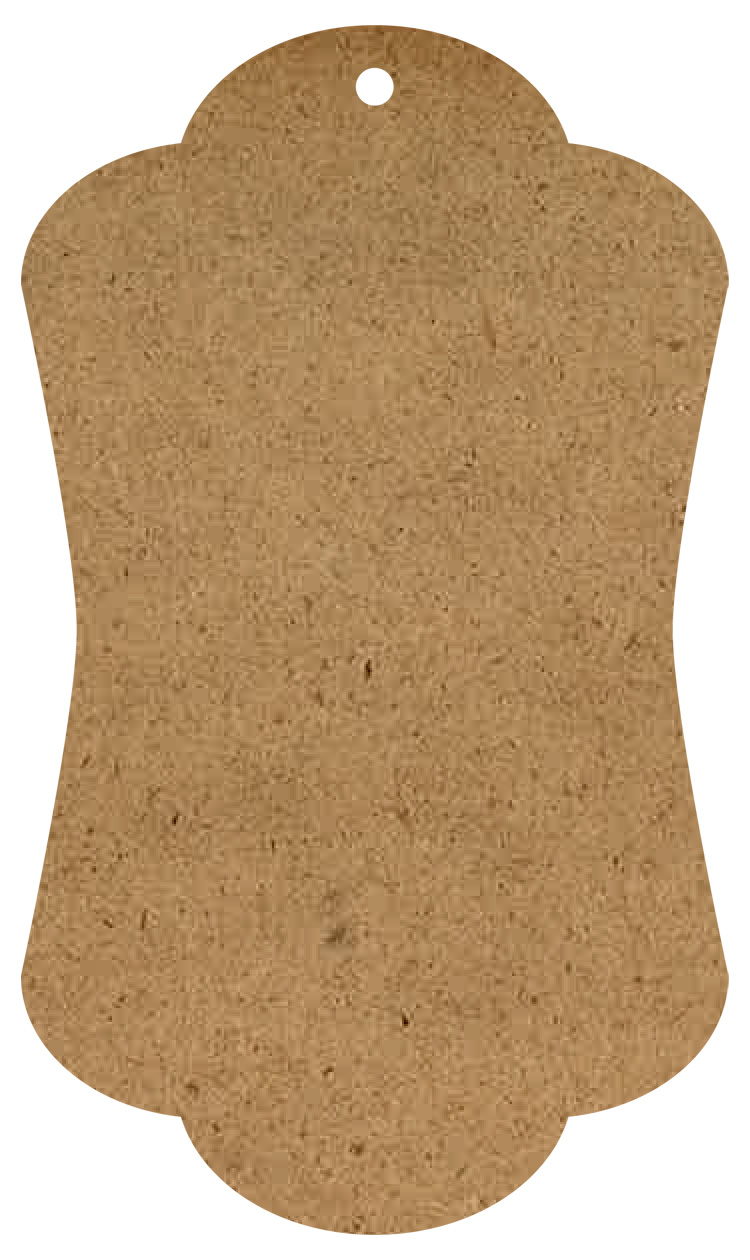 "Elegant Wood Tag Surface - Small - 12"""