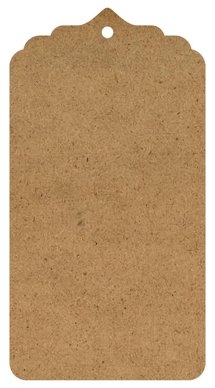 "Classical Wood Tag Surface - Medium - 15"""