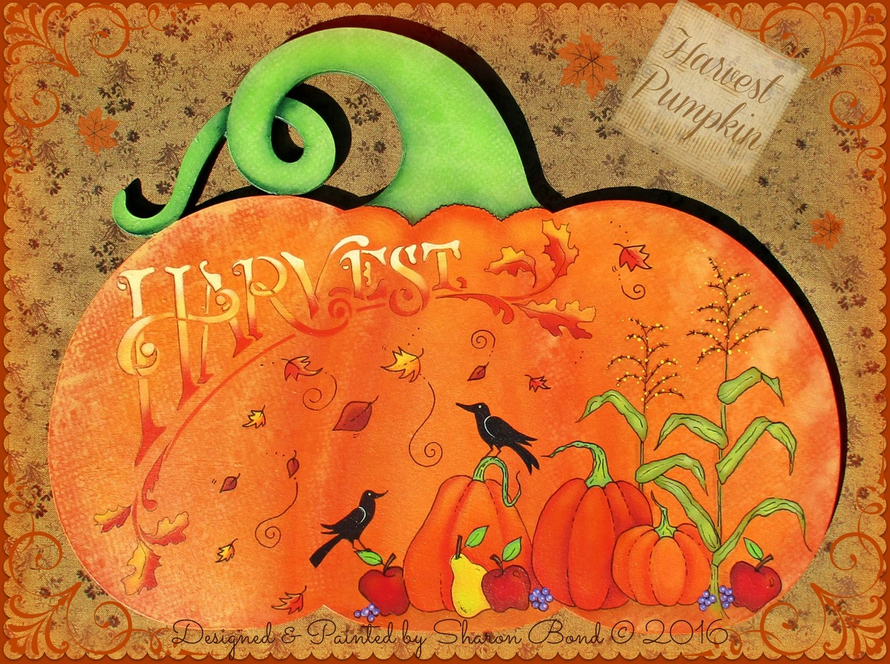 Harvest Pumpkin - E-Packet - Sharon Bond