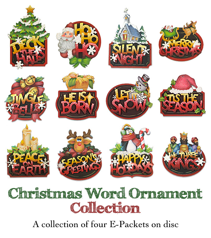 Christmas Word Ornament Collection