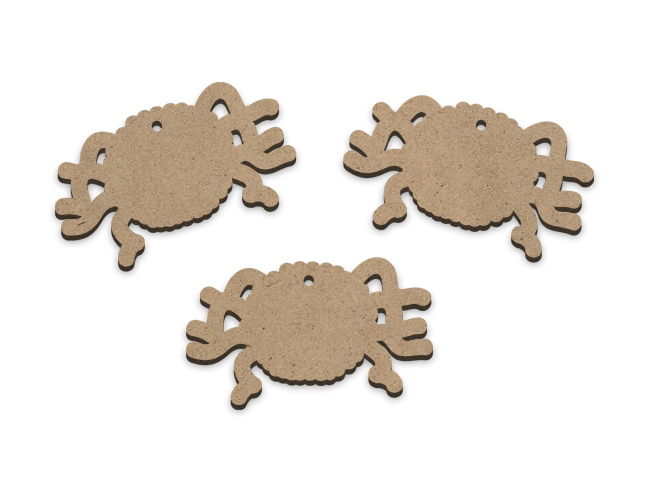 Itsy Bitsy Spiders Embellishments - Set of 3