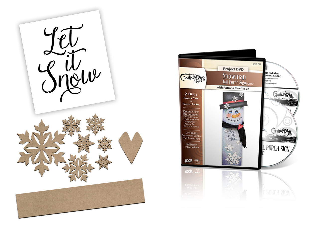 Snowman Tall Porch Sign Deluxe DVD Set