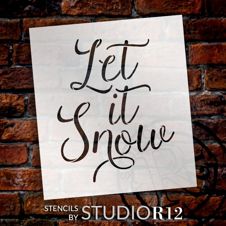 Snowman Tall Porch Sign Stencil + Embellishment