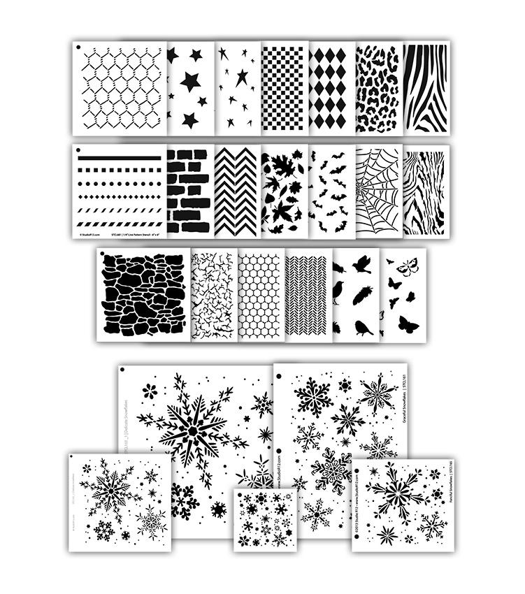 Artist Essentials Deluxe Pattern Stencil Set - 25pc